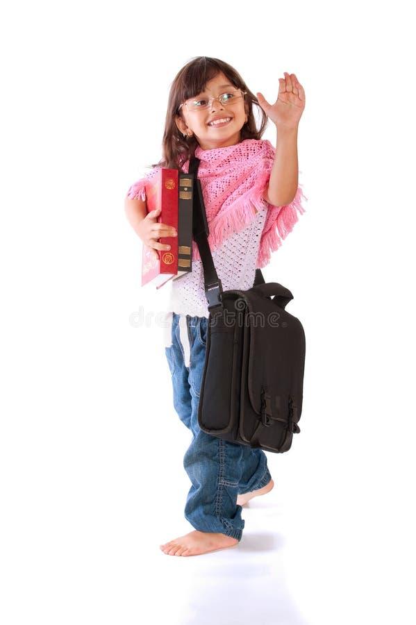 小女孩的纵向 库存照片