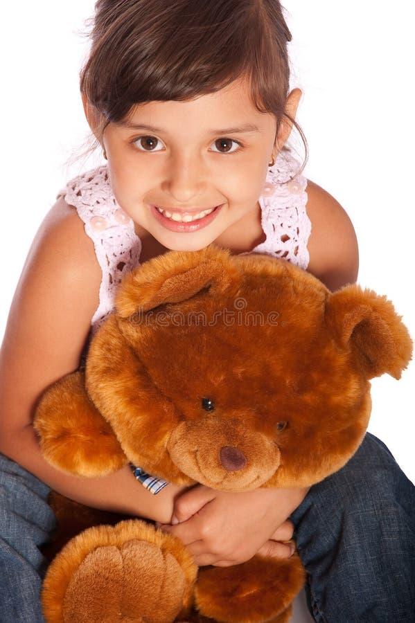 小女孩的纵向 库存图片