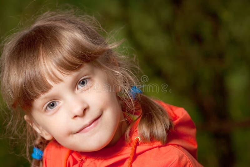 小女孩的纵向 免版税图库摄影