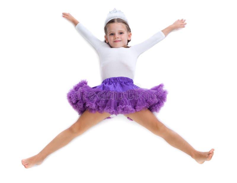 小女孩芭蕾舞女演员 库存照片