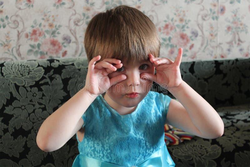 小女孩, 3岁 免版税库存照片