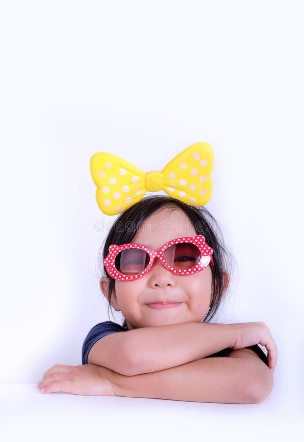 小女孩画象微笑的面孔 库存图片