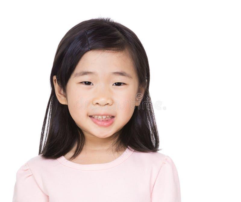 小女孩画象 库存照片