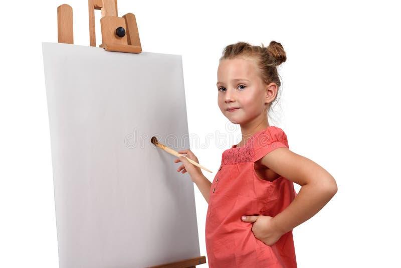 小女孩绘 免版税库存图片