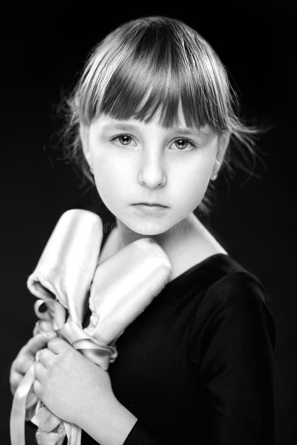 小女孩balerina 图库摄影