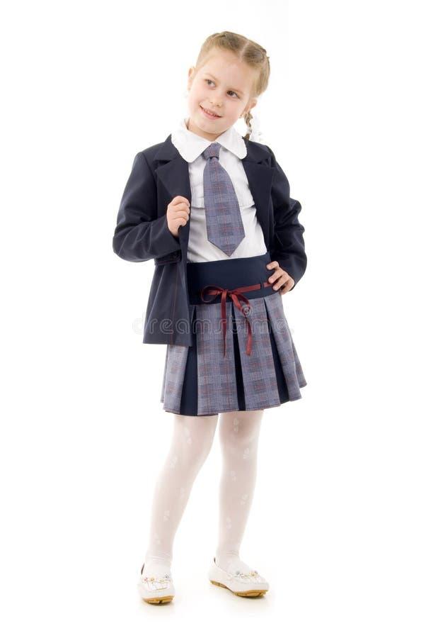 小女小学生 免版税库存照片