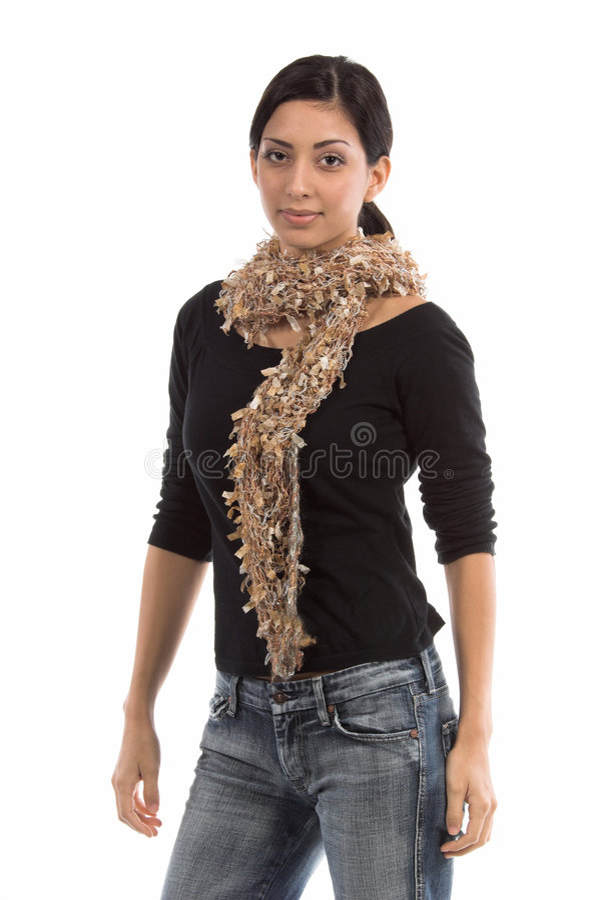 小女装设计的围巾 免版税库存图片