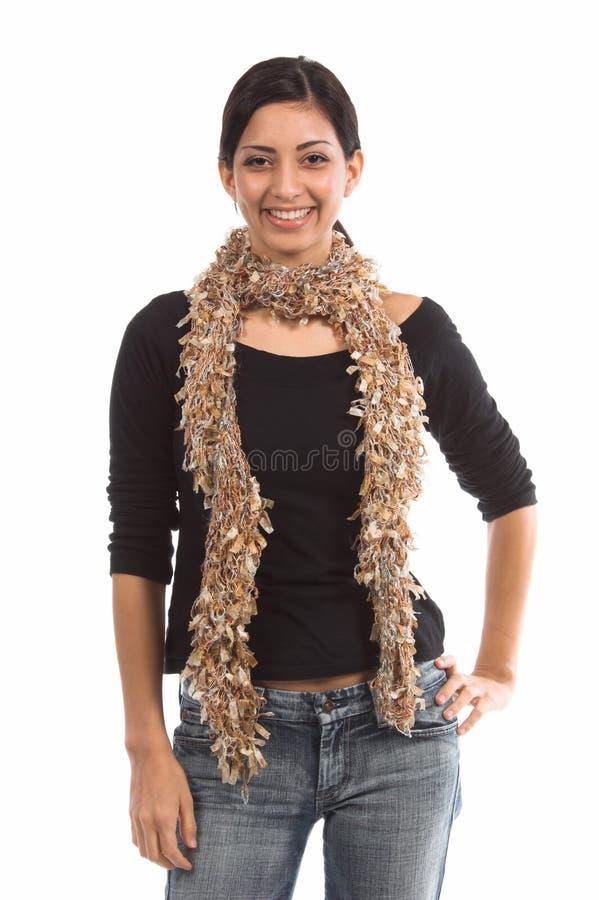 小女装设计的围巾 免版税图库摄影