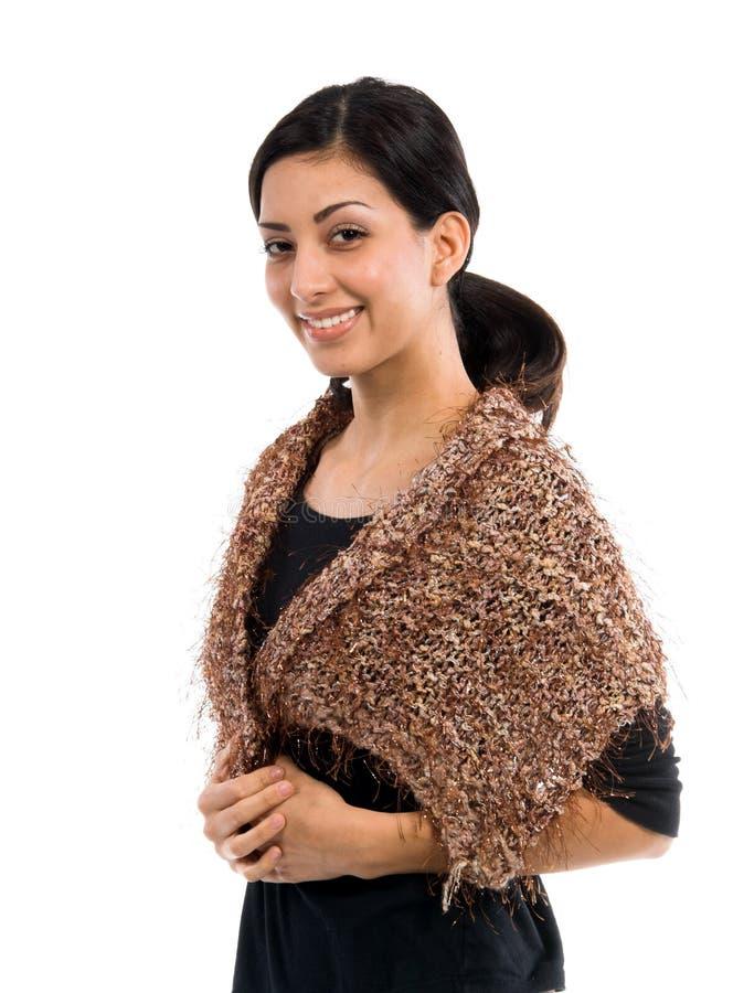 小女装设计的披肩 免版税图库摄影