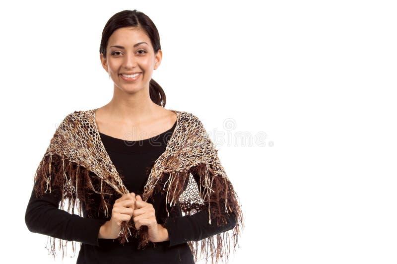 小女装设计的披肩 免版税库存图片