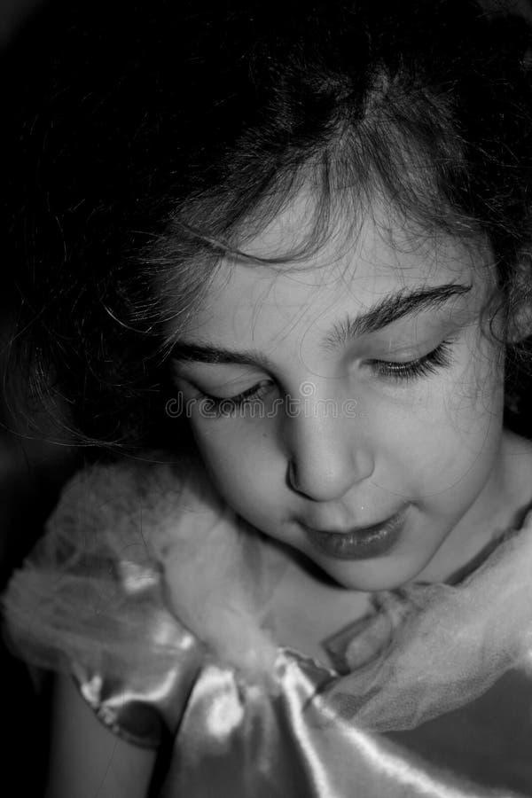 小妇女画象  图库摄影