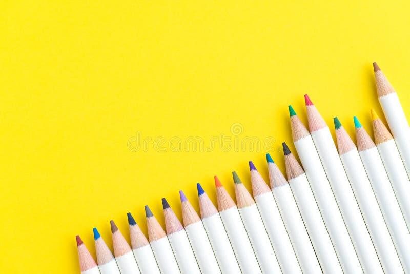 小学生、孩子或者成人着色设备,颜色书写 图库摄影