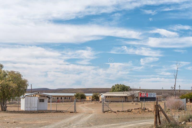 小学的旅舍在Middelpos 图库摄影
