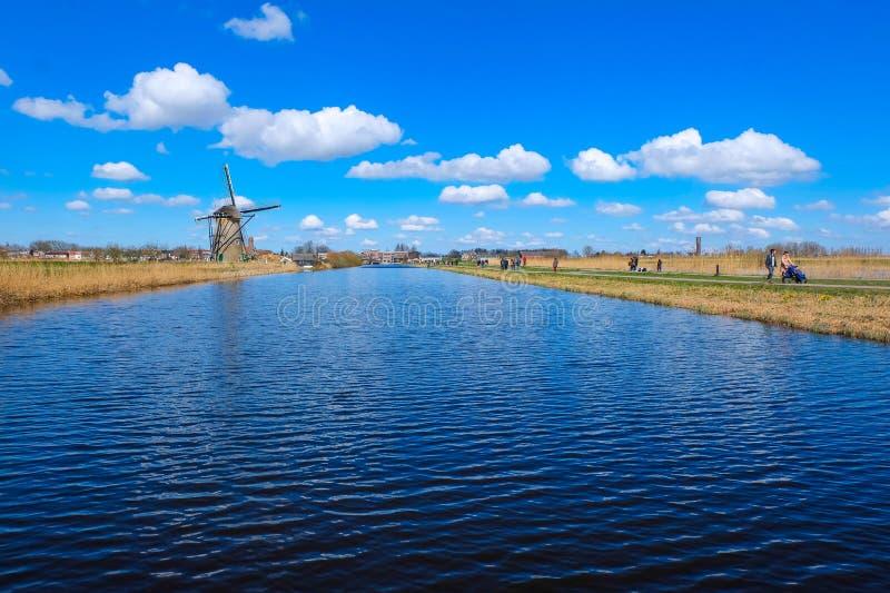 小孩堤防-荷兰 库存图片