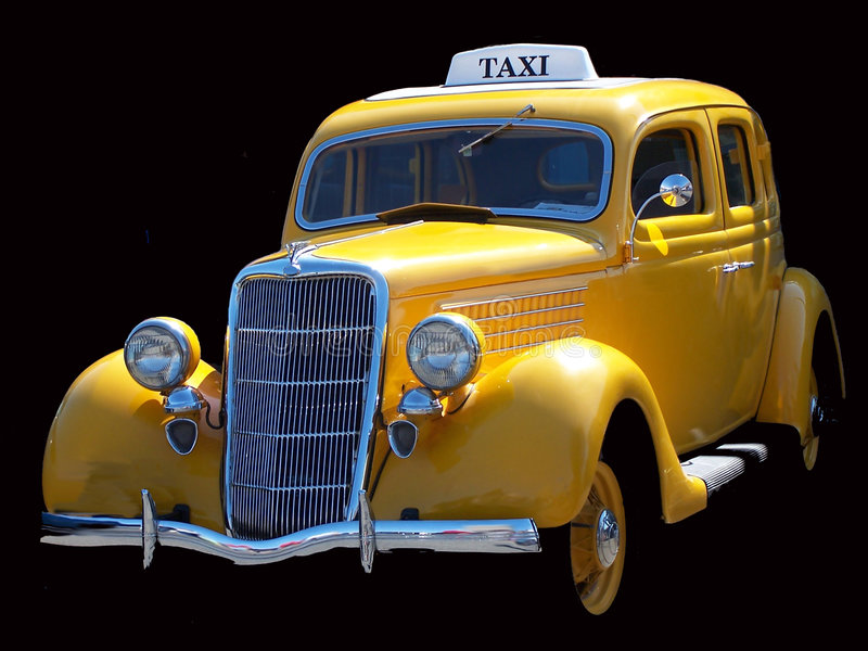 小室出租汽车葡萄酒 免版税库存照片