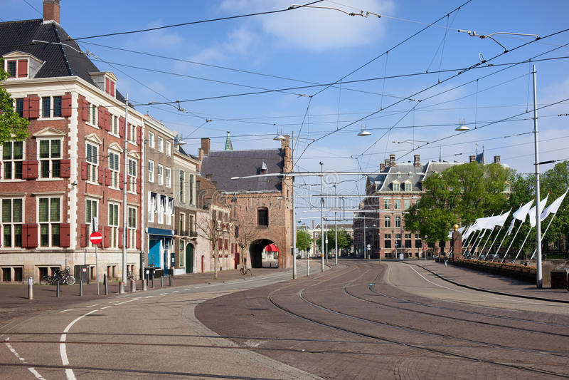 小室Haag市中心在荷兰 免版税库存图片
