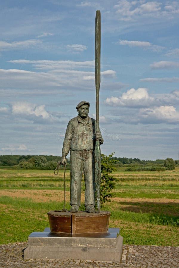 `小室Toeter `雕象在Tielrode,富兰德,比利时 免版税库存照片