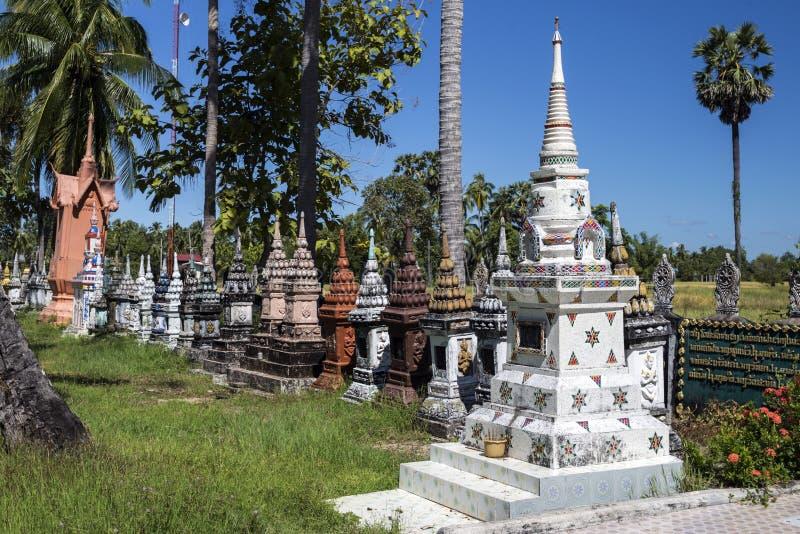 小寺庙,老挝 库存照片