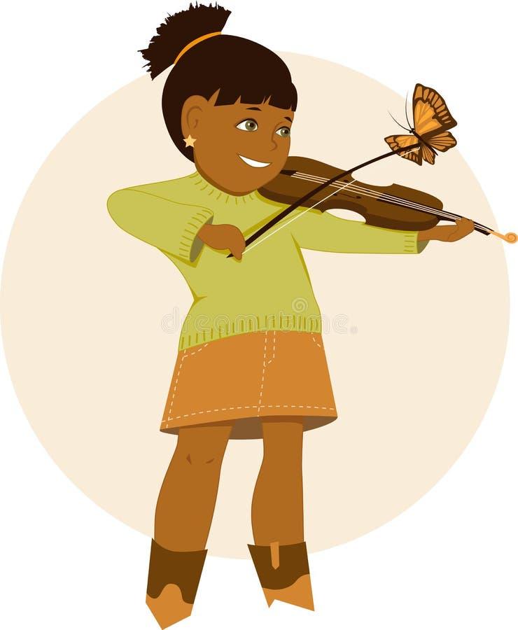 小小提琴手 库存例证