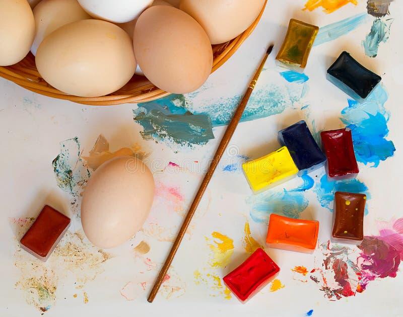 小小组鸡蛋 图库摄影