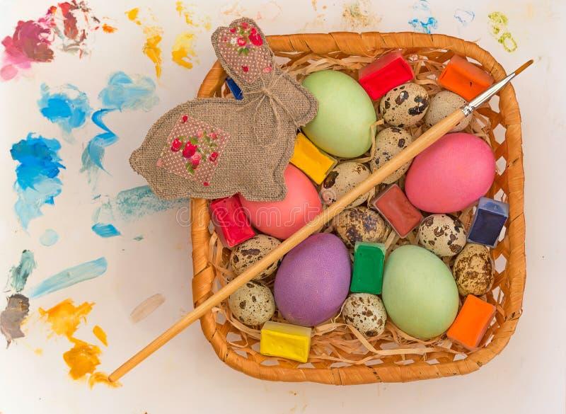 小小组鸡蛋 库存照片