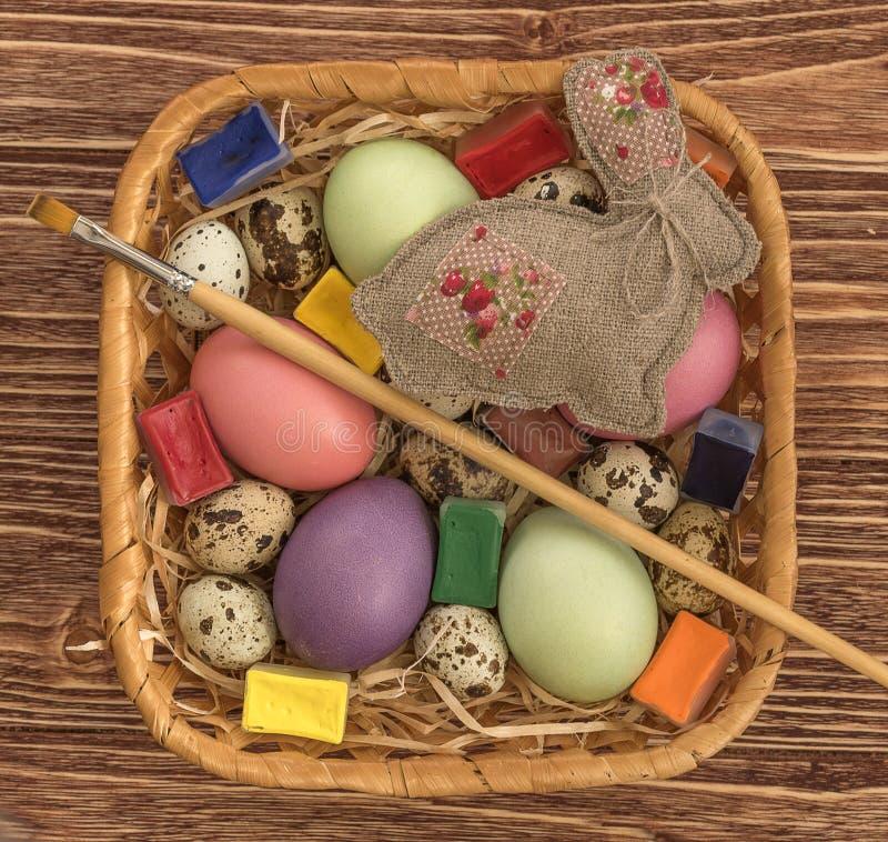 小小组鸡蛋 免版税图库摄影