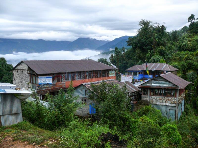 小屋在Deurali,尼泊尔 库存图片