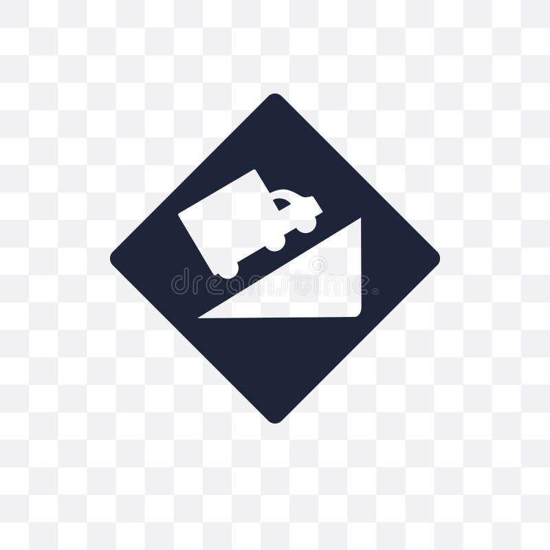 小山标志透明象 小山标志从交通的标志设计 库存例证