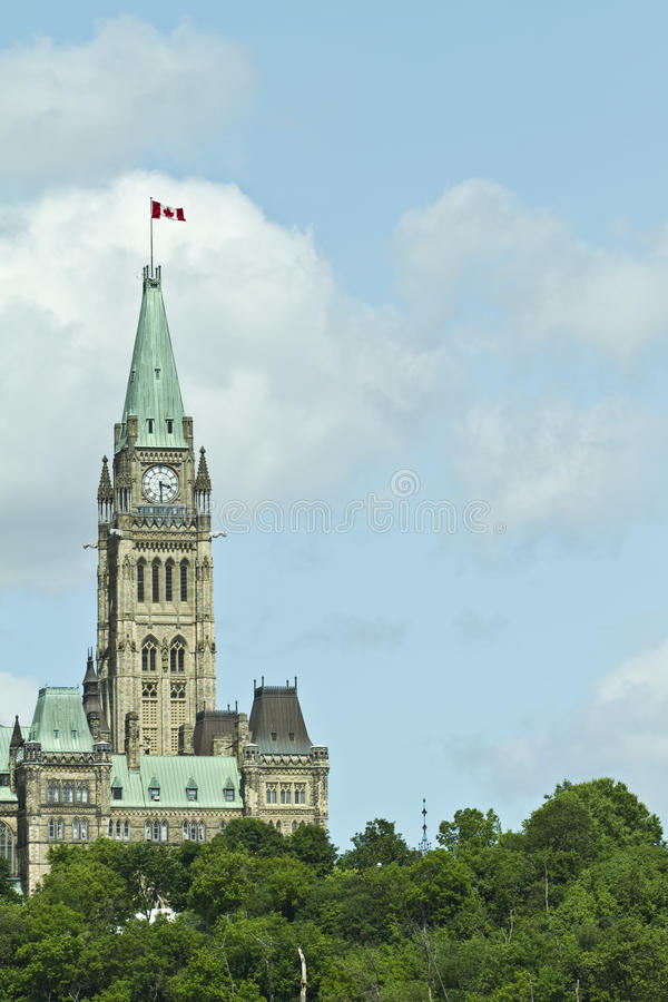 小山渥太华议会 库存图片