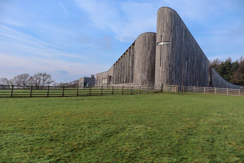 小山的修道院 免版税库存照片