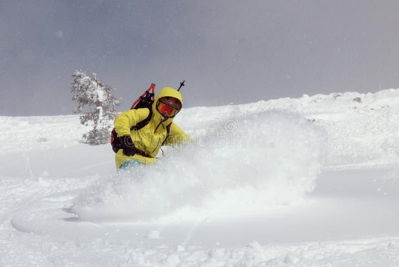 小山的挡雪板 图库摄影