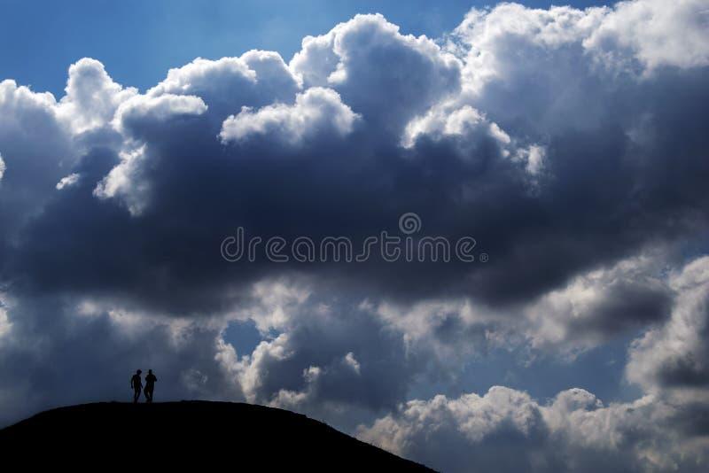 小山的顶层 库存照片