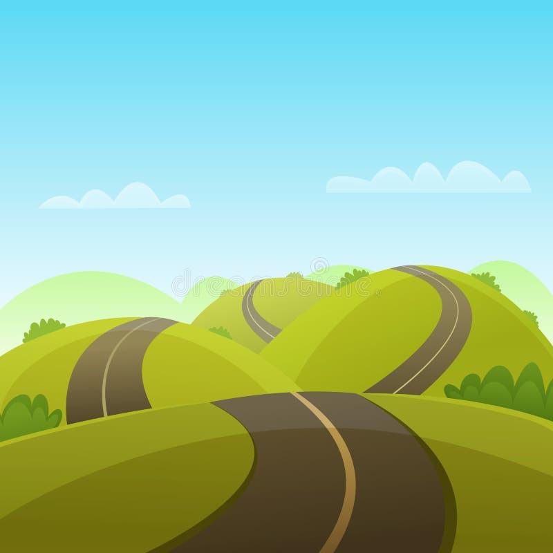 小山路 向量例证