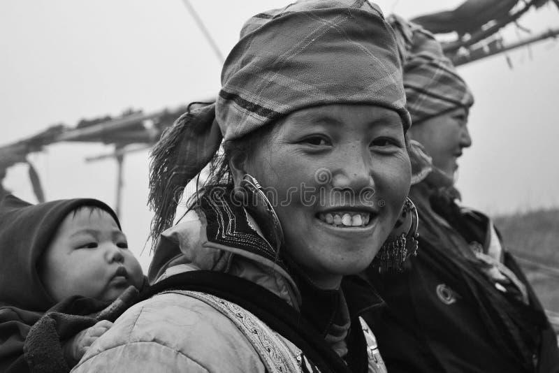 小山部落妇女画象 库存照片