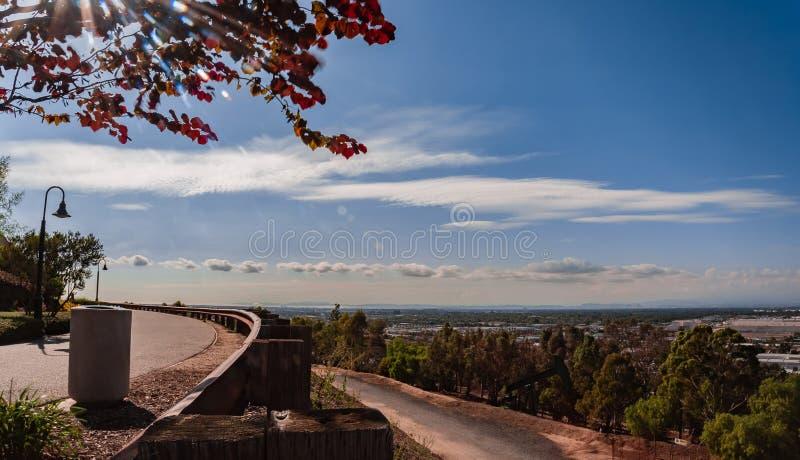 小山顶公园信号小山加利福尼亚 库存图片