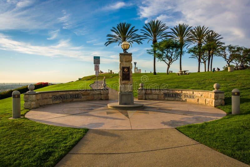 小山顶公园,信号小山的,长滩 免版税库存图片