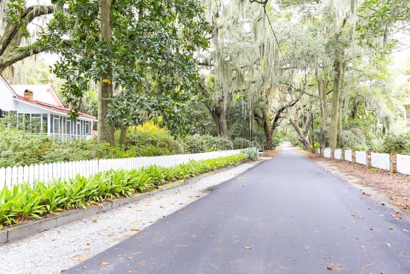 小岛希望, GA美国- 2013年11月1日:历史的住宅区 免版税库存照片