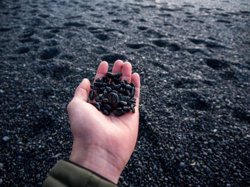 小岩石在冰岛 免版税库存图片