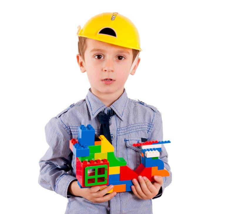 小建设者 免版税库存照片