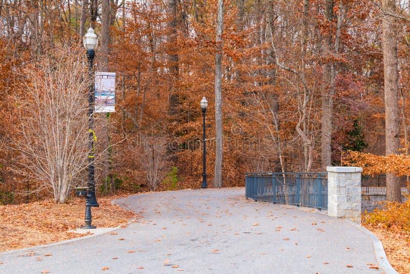 小径在山麓公园,亚特兰大,美国 图库摄影