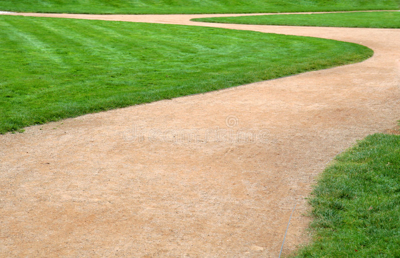 小径草绿色 库存图片