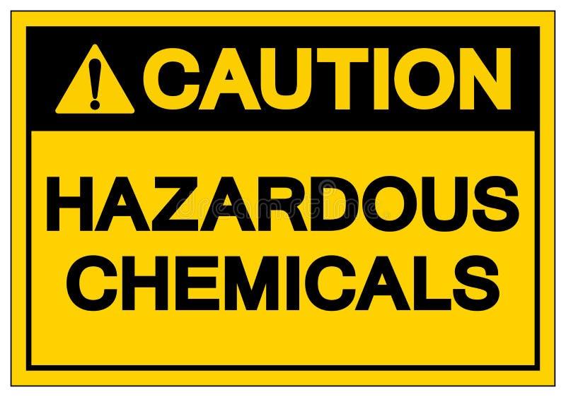 小心危害化学符号标志,传染媒介例证,在白色背景标签的孤立 EPS10 向量例证