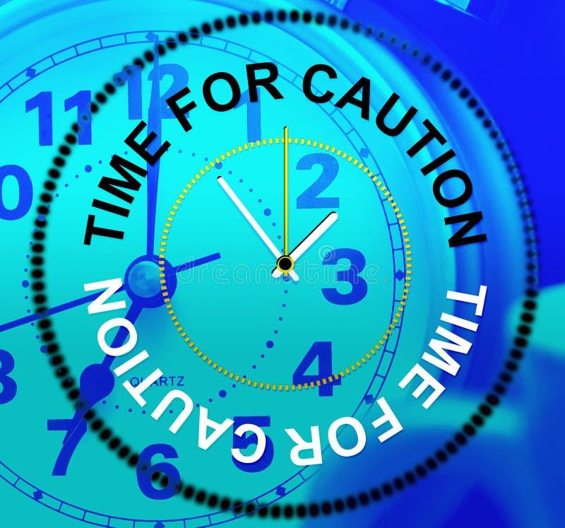 小心手段的时刻事先警告当心和情况通知 库存例证