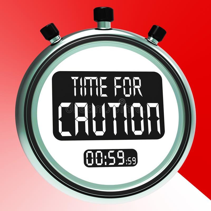 小心消息展示危险当心或警告 库存例证