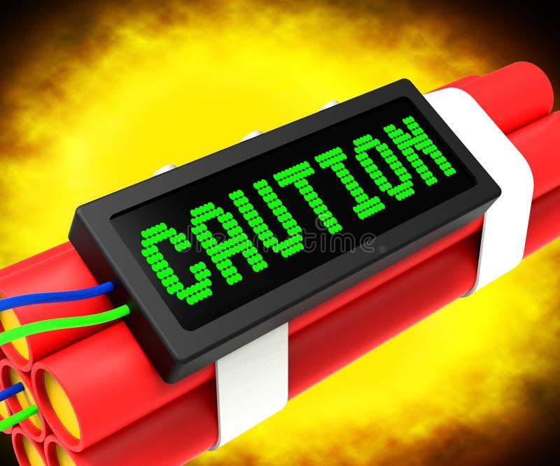 小心炸药标志意思危险或警告 皇族释放例证
