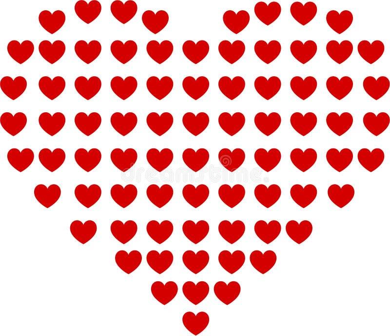 小心脏作为大心脏 向量例证