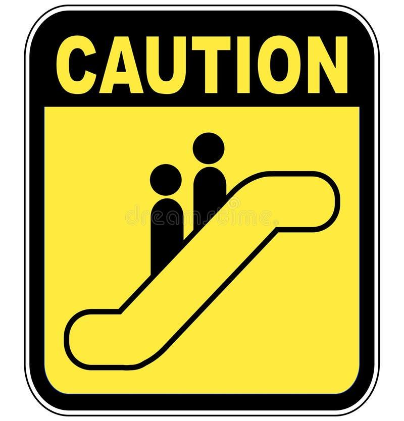 小心自动扶梯符号 库存例证