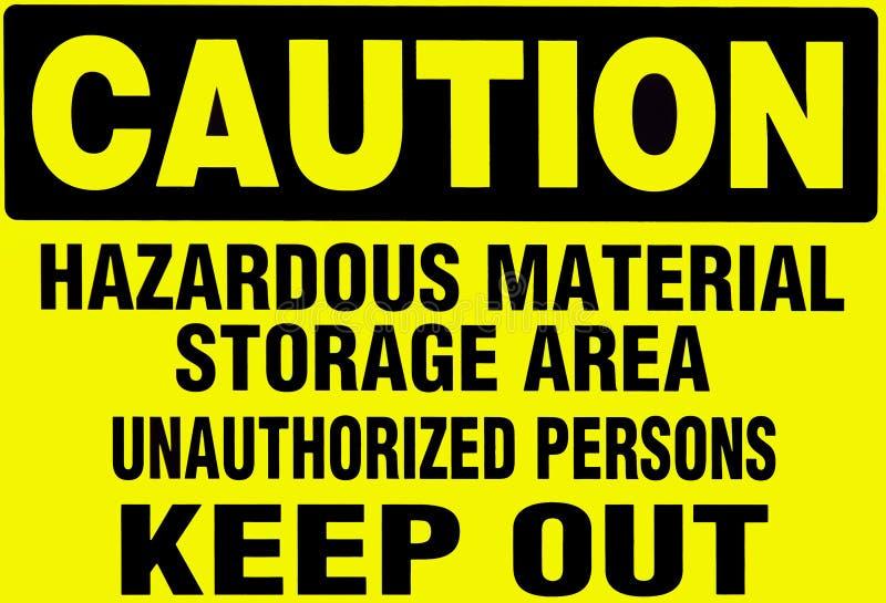 小心hazardoud材料签署警告 库存照片
