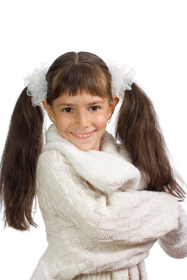 小快乐的女孩 库存照片