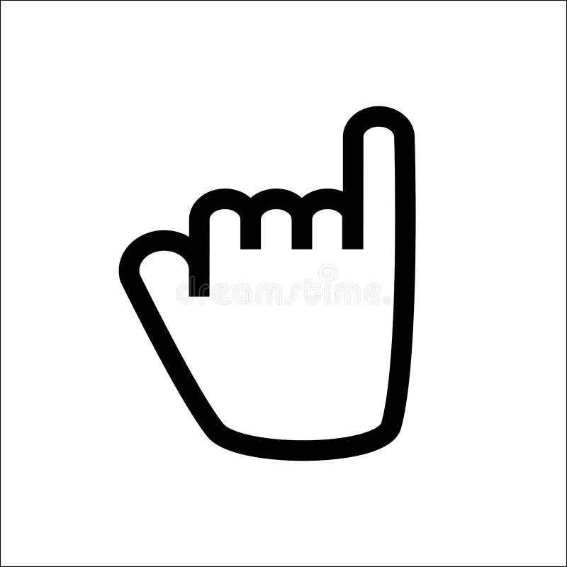 小指线象诺言 向量例证